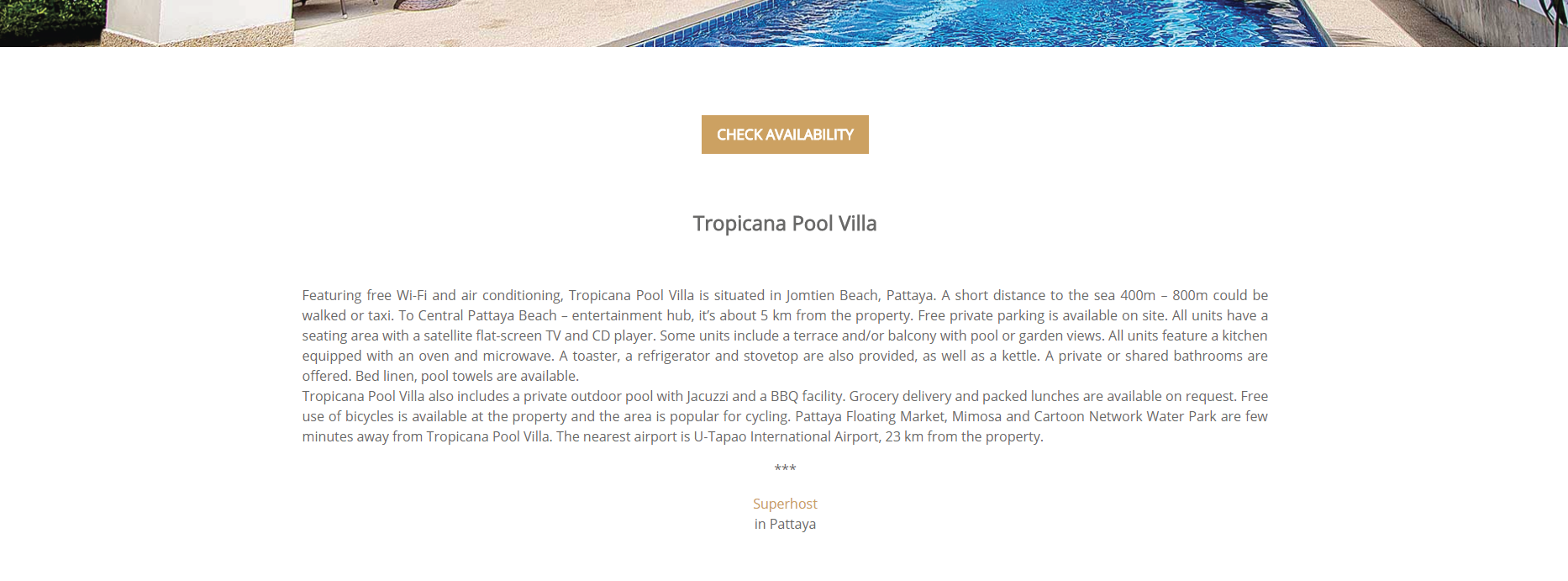 tropicana pool villa module 1
